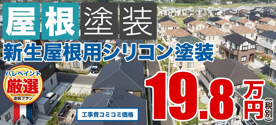 新生屋根用シリコン屋根塗装塗装 19.8万円