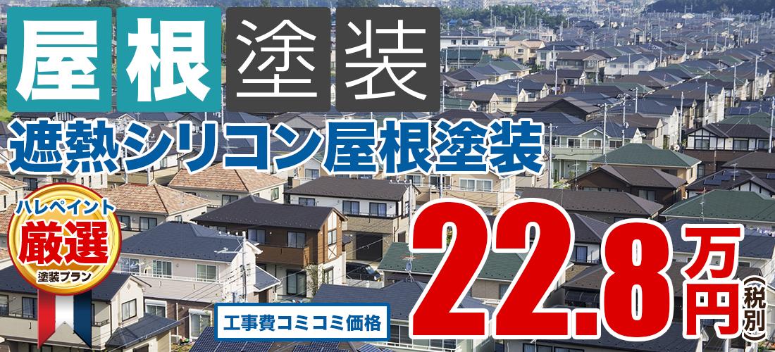 遮熱シリコン屋根塗装塗装 22.8万円