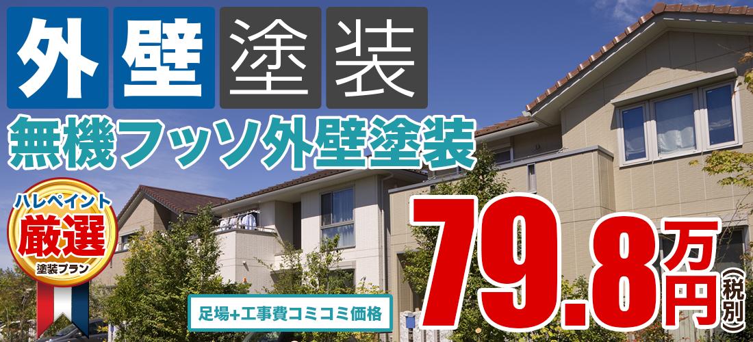 無機フッ素外壁塗装塗装 79.8万円