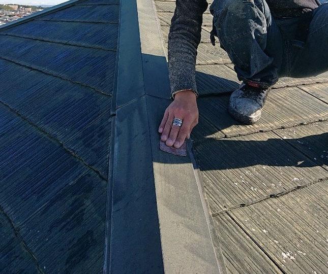 屋根棟板金塗装