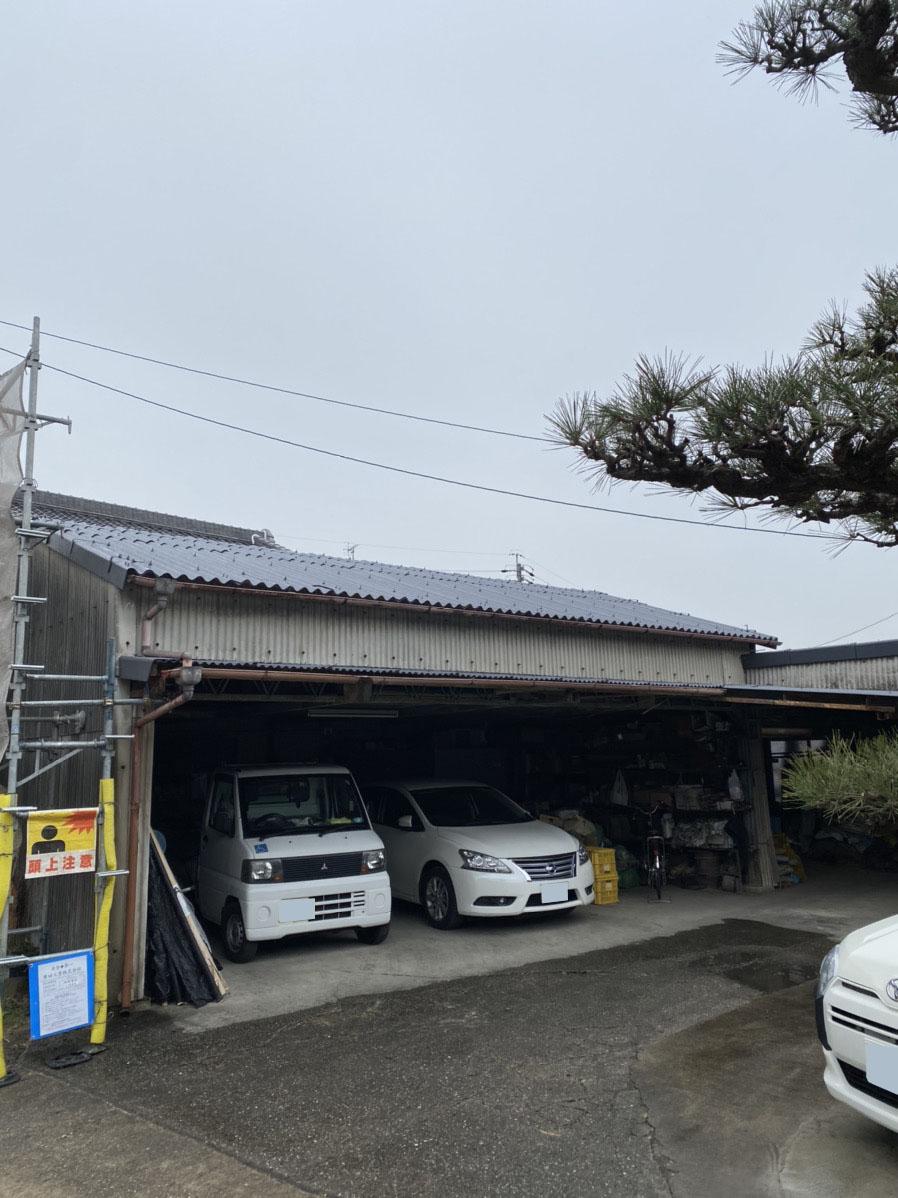 【名古屋市緑区】車庫スレート屋根塗装 T様邸【名古屋市緑区 外壁塗装・屋根塗装専門店 ハレペイント】
